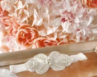 Rhinestone Wedding Garter + FREE Toss Garter