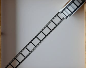 "Masking tape - pattern ""Film"" black - 1.5 cm x 10 m"