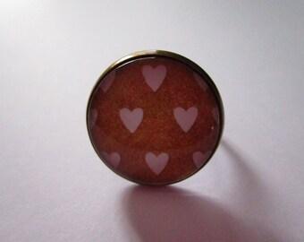 "Ring ""Precious love III"", bronze, costume jewelry"