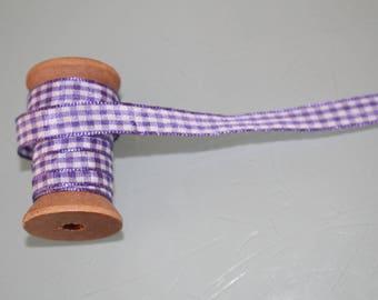 Sewing purple Plaid Ribbon