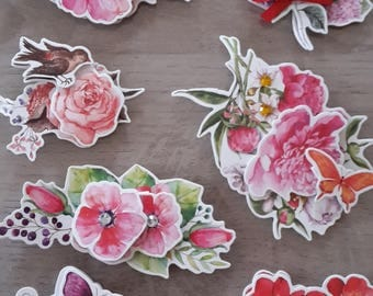 Stickers stickers 3D flowers