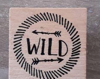 Wild wooden stamp