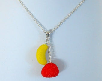 Sweet Strawberry and banana necklace