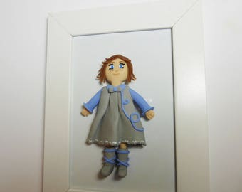 Doll in white cold porcelain decoration child's room