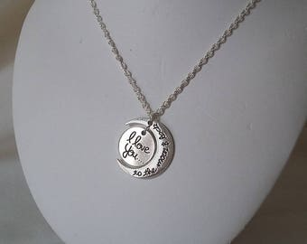 """Sterling Silver """"I LOVE YOU"""""""
