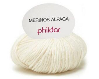 phildar unbleached Alpaca merino wool yarn
