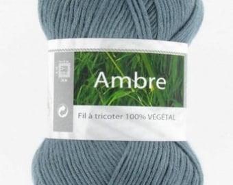 crochet wool Knitting yarn was Amber anthracite No. white horse 030