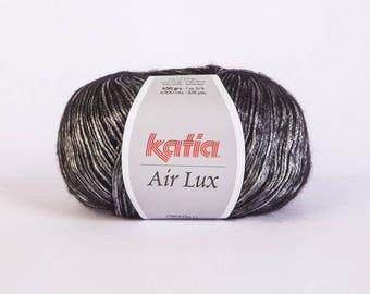 Ball of yarn Katia Air lux silver 61