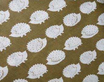 HEDGEHOG / cotton-linen Japanese coupon 50cm x 50cm