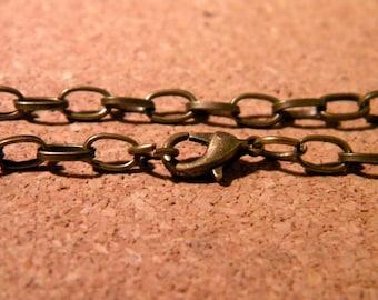 Customize 205 mm - lobster clasp 5 bracelets - link 12 x 7 mm bronze D69 2