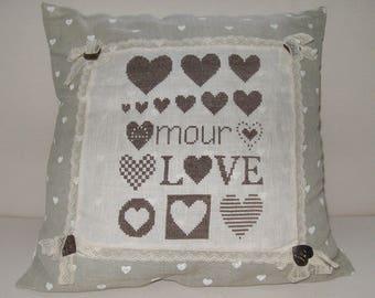 Cushion on the love theme