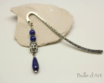 Buddha bookmark and Lapis Lazuli stones