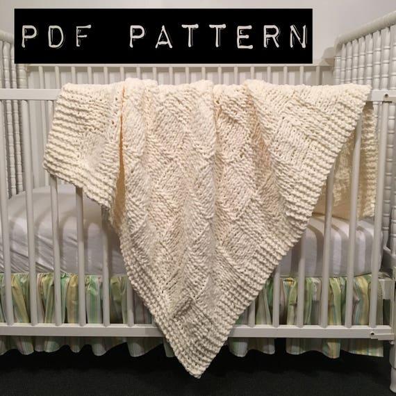 Knitting pattern Checkerboard baby blanket pattern