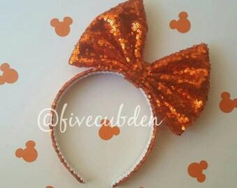 Orange oversized bow