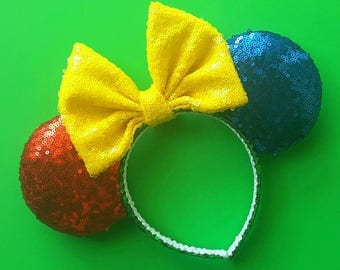 Primary color block mouse ears