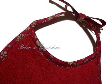 RED TERRY BIB AND LIBERTY CAPEL RED