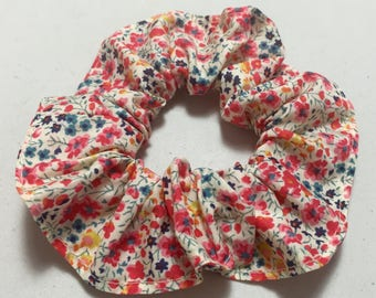 Red girl Liberty fabric scrunchie