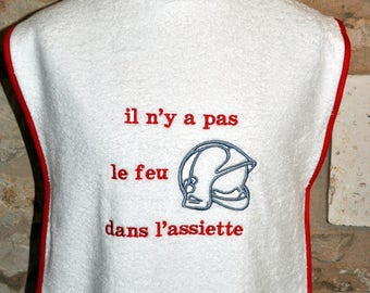 ADULT WHITE SPECIAL FIREMEN WITH NAME BIB