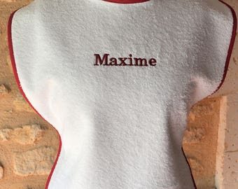 ADULT WITH LAST NAME TERRY CLOTH BIB
