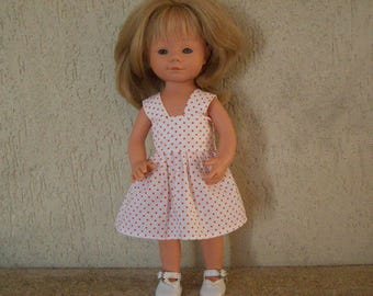 (cotton dress printed with mini polka dots) for dolls of 34 cm, compatible with the of Dene (marietta)