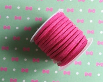 1 meter of n54 3x1.5mm pink suede cord