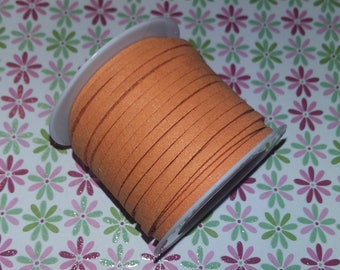 1 meter suede cord orange light 3x1.5mm n64