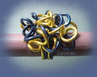 Ring Frizz Royal blue / yellow
