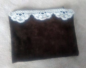 Genuine brown leather pouch