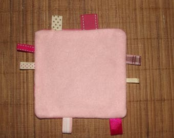 Pink label for your baby blanket, handmade.