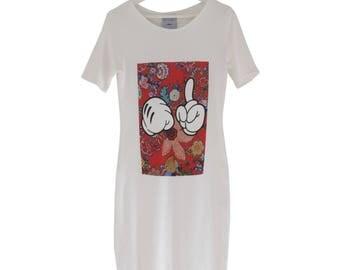 White organic cotton MICKEY dress