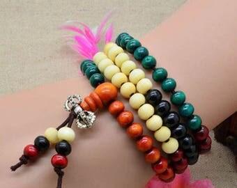 1 Tibetan bracelet cantal wood 108 beads prayer Mala within 15 days