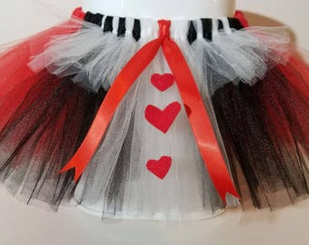 Red, Black and White Tutu Queen of Hearts