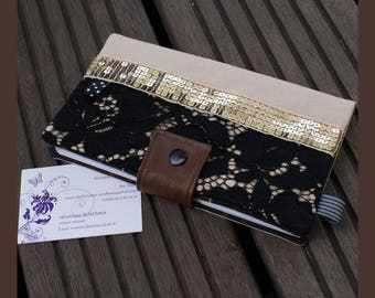 "checkbook, ""lovely lace"" card holder"
