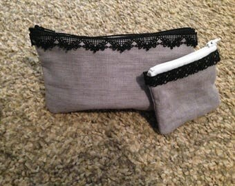 Matching clutch and wallet handmade