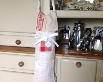 Linen bread bag old Monogram LC