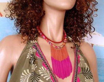 Colorful necklace style ethnic MAITENA