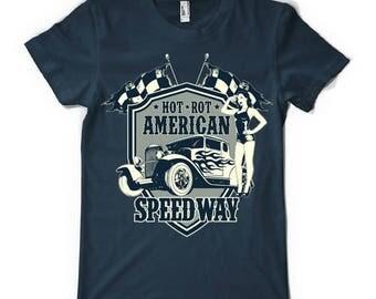Hot rod speedway t-shirt