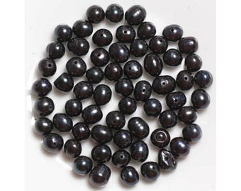 Pearls 5-6mm black - 10pc 4558550037169 bag