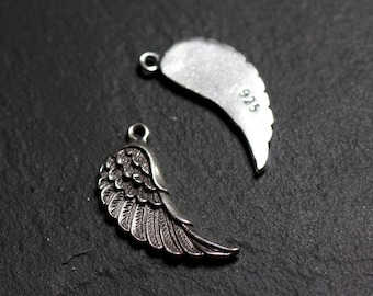 1pc - Silver 925 24mm - 4558550086587 wing pendant charm
