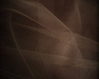 tulle soft chocolate width 300 cm