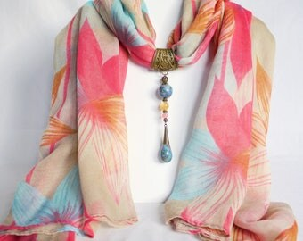 Jewelry scarf and her large scarf