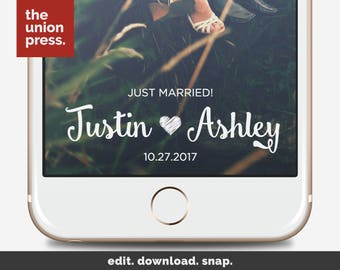 Wedding Snapchat Filter - Wedding Snapchat Geofilter - Wedding Filter - Married Snapchat Filter