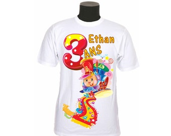 t-shirt kids birthday personalized with number and name choice ref year 07