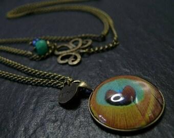Necklace has Art Deco 7 Bronze