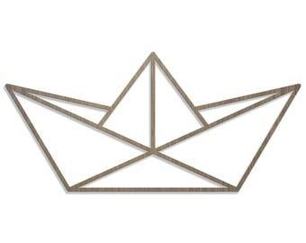 BOAT ORIGAMI laser cut wood size D