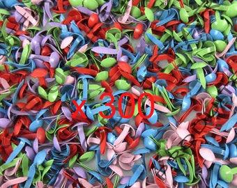 Set of 300 multicolor Paris clip Mini Brads Scrapbooking Cardmaking Decoration 5 * 9 mm