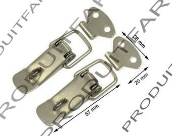 Set of 2 clasps locks spring trunk box crate Metal Toolbox