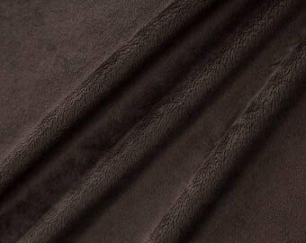 Chocolate coupon short hair velvet minky fabric