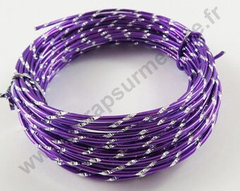 Engraved aluminum O - Purple - 2mm x 10 m