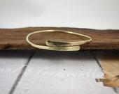 Brass Adjustable Bangle, Hand Forged Brass Wrap Bangle, Stacking Bangle Bracelet, Minimalist Jewellery, Hammered Brass Bracelet, Gold Colour